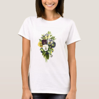 Pansy Bouquet Flowers Woman's Tee Shirt