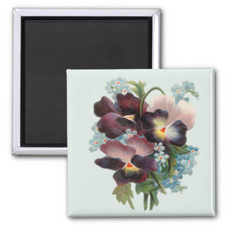 Pansy Bouquet Magnets