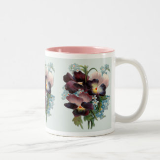 Pansy Bouquet Two-Tone Coffee Mug