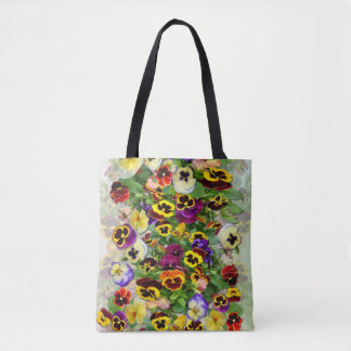 Pansy Cascade Tote Bag