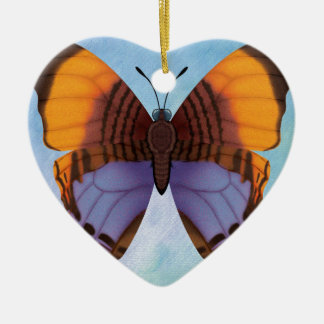 Pansy Daggerwing Butterfly Ceramic Heart Decoration
