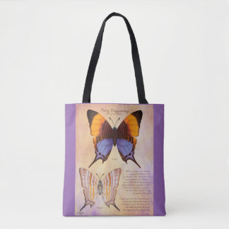 Pansy Daggerwing Butterfly Tote Bag