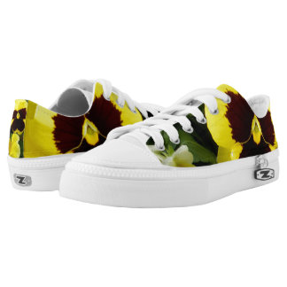 Pansy_Delights_Lowtop_Printed_Zipz_Sneakers. Printed Shoes