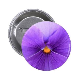 pansy design 6 cm round badge