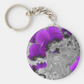 Pansy Effect Key Ring