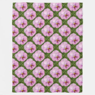 Pansy Face-Pink Fleece Blanket