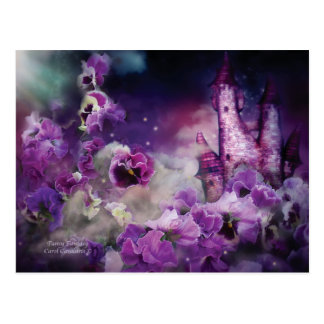Pansy Fantasy Art Postcard