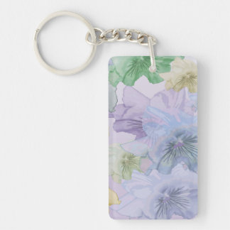 Pansy Flower Background Key Ring