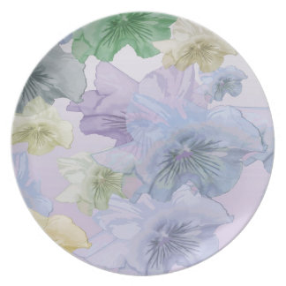 Pansy Flower Background Plate