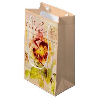 Pansy flower feminine girls small gift bag
