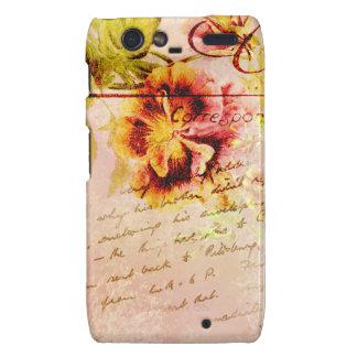 Pansy flower handwritten postcard droid RAZR cases