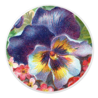 Pansy Flower Knob Pull