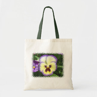 Pansy Flower Pictures Small Canvas Tote Bag