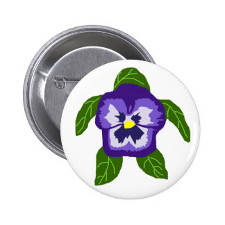 Pansy FLOWER SEA TURTLE button