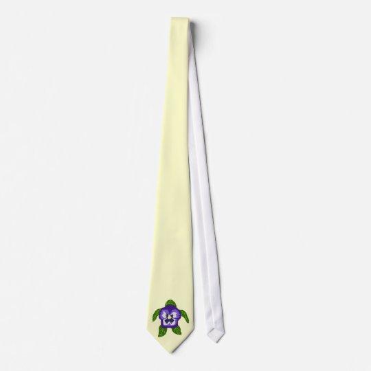 Pansy FLOWER SEA TURTLE tie