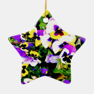 pansy flowers christmas ornament