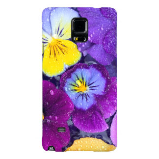 Pansy flowers floating in bird bath with dew galaxy note 4 case