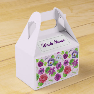 Pansy flowers. Pansy Favour Box
