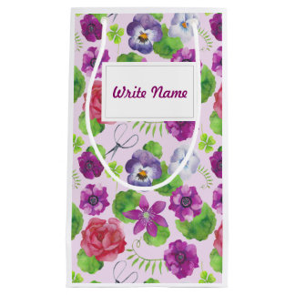 Pansy flowers. Pansy Small Gift Bag