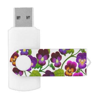 Pansy Garden Flowers USB 32GB Flash Drive