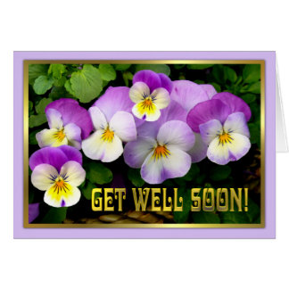 Pansy ~ Get Well Card