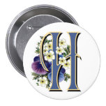 Pansy Initial  - H Pin