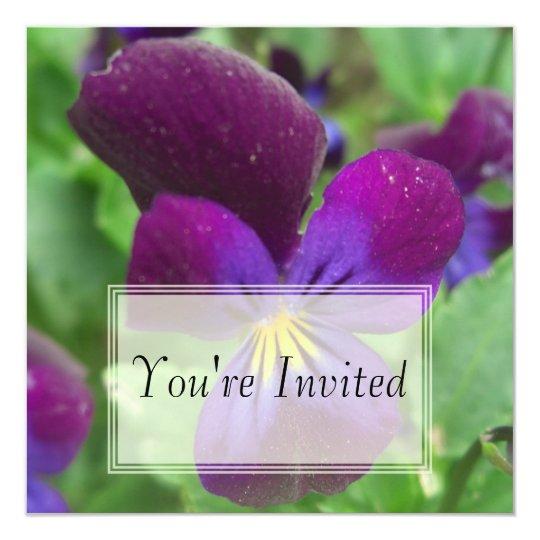 Pansy Invitations