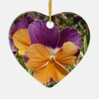 Pansy Jolly Joker Ceramic Heart Decoration
