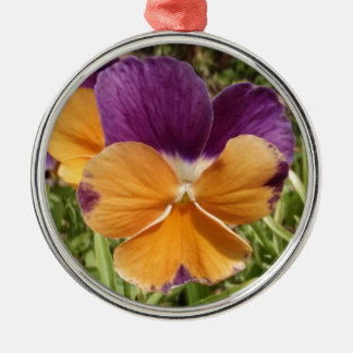 Pansy Jolly Joker Silver-Colored Round Decoration