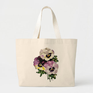 Pansy Jumbo Tote Bag