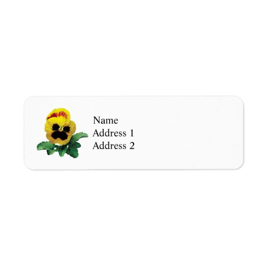 Pansy Love You This Much Return Address Label
