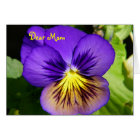 Pansy Mother's Day Card
