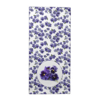Pansy Napkin with Detail - No text