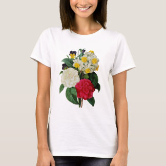 Pansy, Narcissus and Camellia Bouquet By Redoute T-Shirt