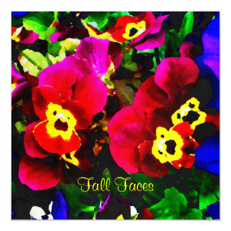 Pansy Note Card 13 Cm X 13 Cm Square Invitation Card