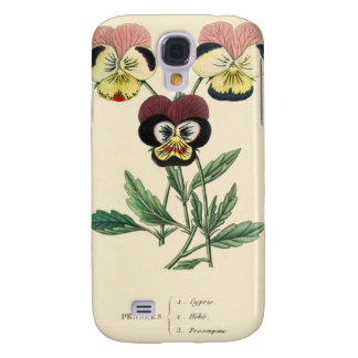 Pansy Pansies Flower Illustration Galaxy S4 Case