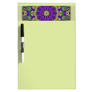 Pansy, Pansies Nature, Flower-Mandala Dry Erase Board