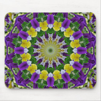 Pansy, Pansies Nature, Flower-Mandala Mouse Pad