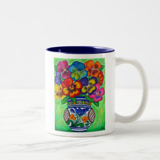 Pansy Parade Coffee Mug