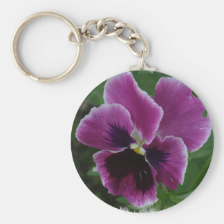 Pansy Pictures Keychain