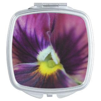 Pansy pocket mirror compact mirror