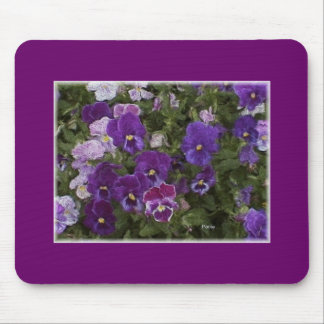 pansy purple mouse mat