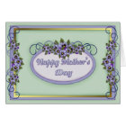 Pansy Scrolls Mother's Day Card