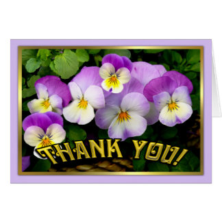 Pansy ~ Thank You Card