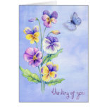 Pansy Thinking Of You Note Card