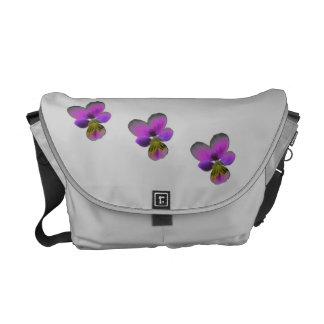 Pansy Wild Dark Purple Messenger Bag