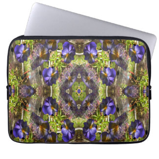 Pansy's on a platter... laptop sleeve