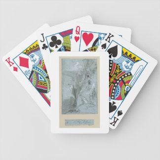 Pantalica, from 'Views of Sicily (chalk & gouache Bicycle Playing Cards