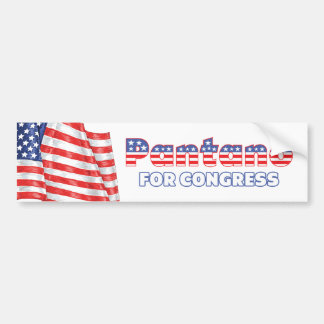 Pantano for Congress Patriotic American Flag Bumper Sticker