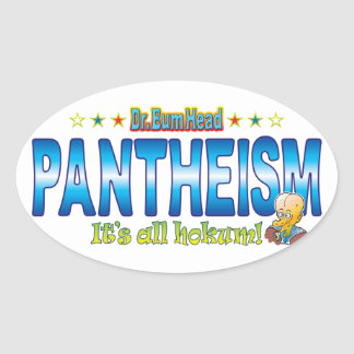 Pantheism Dr. B Head Oval Sticker